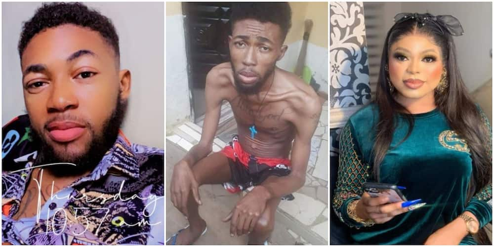 Blood Cancer Survivor Who Wished for Death Appreciates Bobrisky for Helping Him in Touching Video