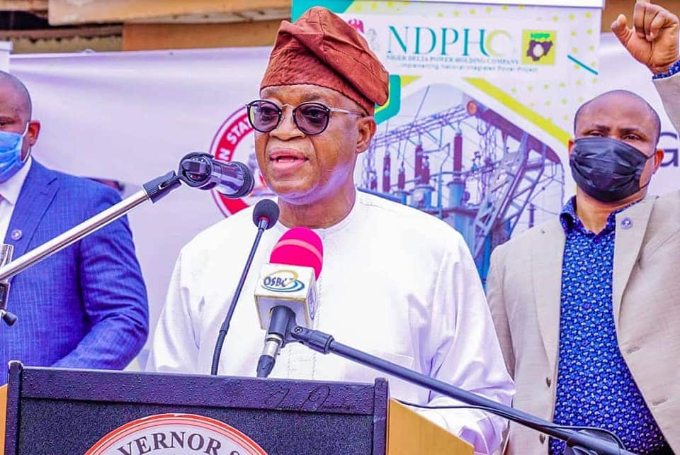 Governor Oyetola Reveals Who Will Decide His Re-Election