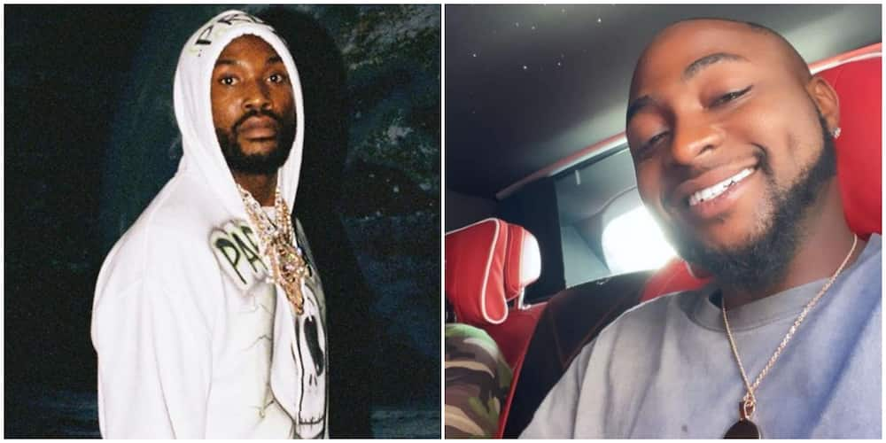 Davido shoots his shot as rapper Meek Mill launches search for Nigerian artist