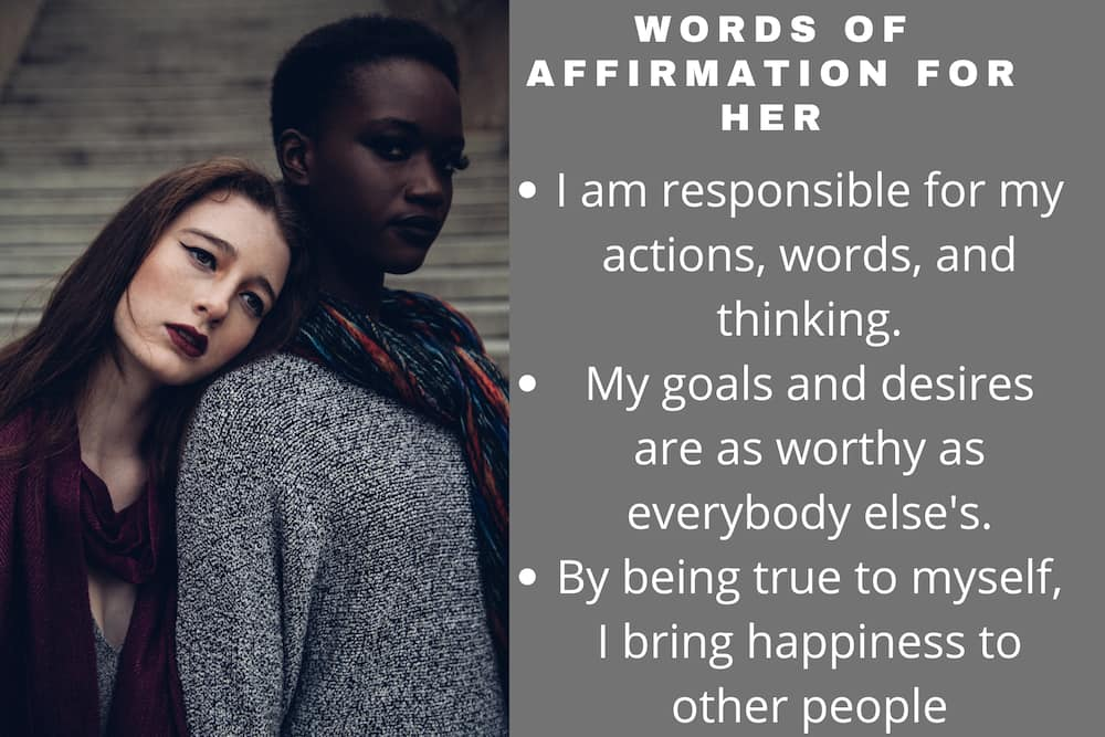 Words of affirmation for her