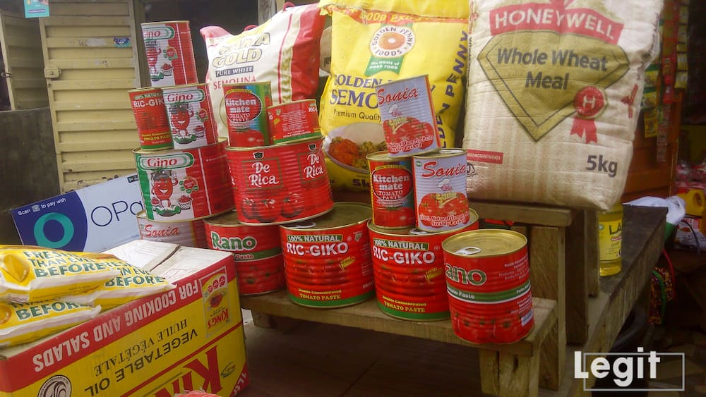 For tomato paste, the sachet sells faster in the market now. Photo credit: Esther Odili
