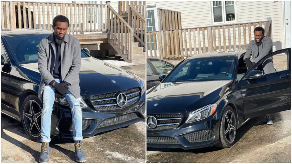 Young Nigerian man living in Canada buys Benz, says it's little gift for himself, stirs reactions
