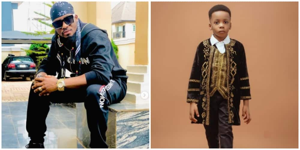 Photos of Junior Pope and his son.