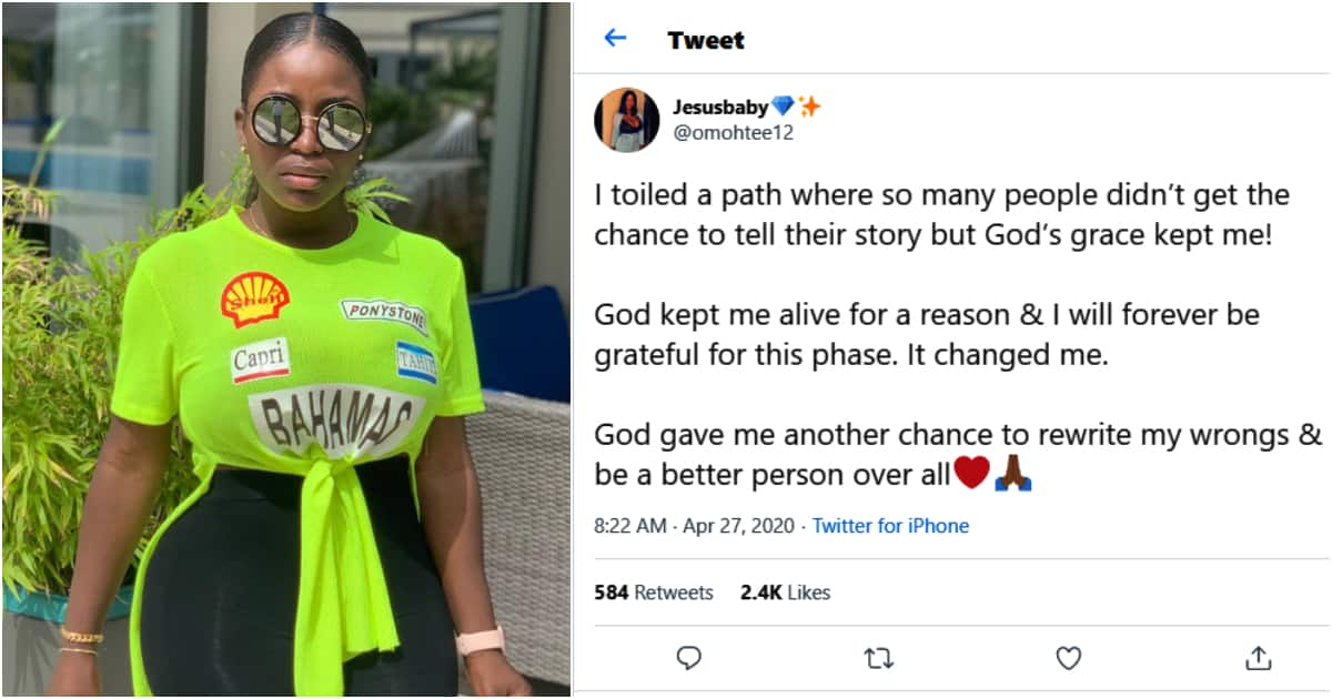 Nigerian lady whose plastic surgery failed thanks God for second chance