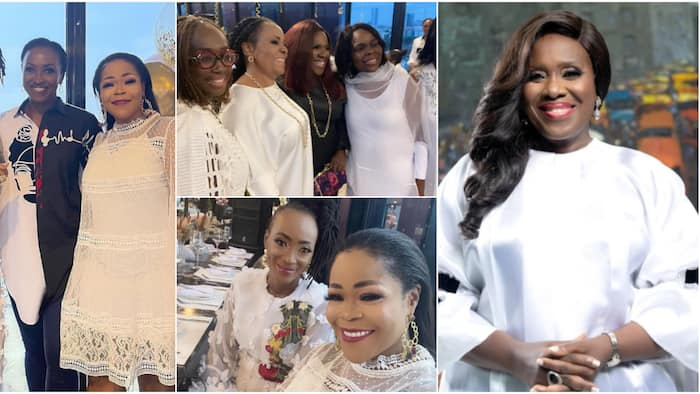 Joke Silva @ 60: Naija celebs step out in fabulous white outfits for actress' surprise birthday party