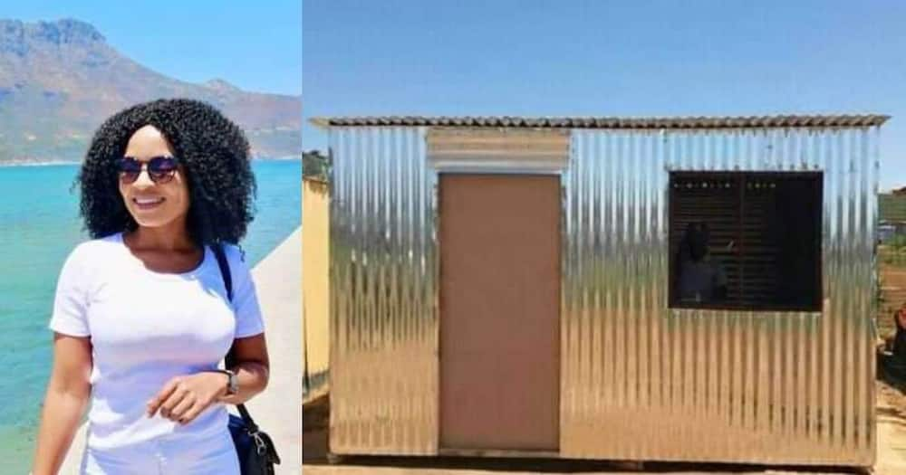 Halala: Woman thanks God as she proudly completes her own home