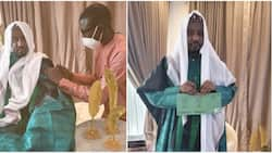 Photos emerges of former emir of Kano, Sanusi receiving COVID-19 vaccine