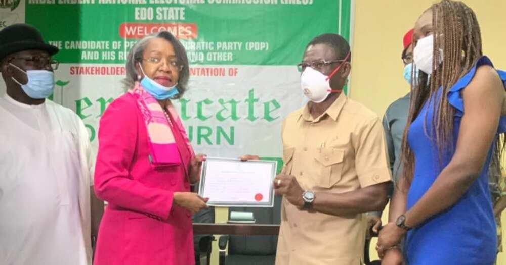 Edo election: Obaeki receives certificate of return