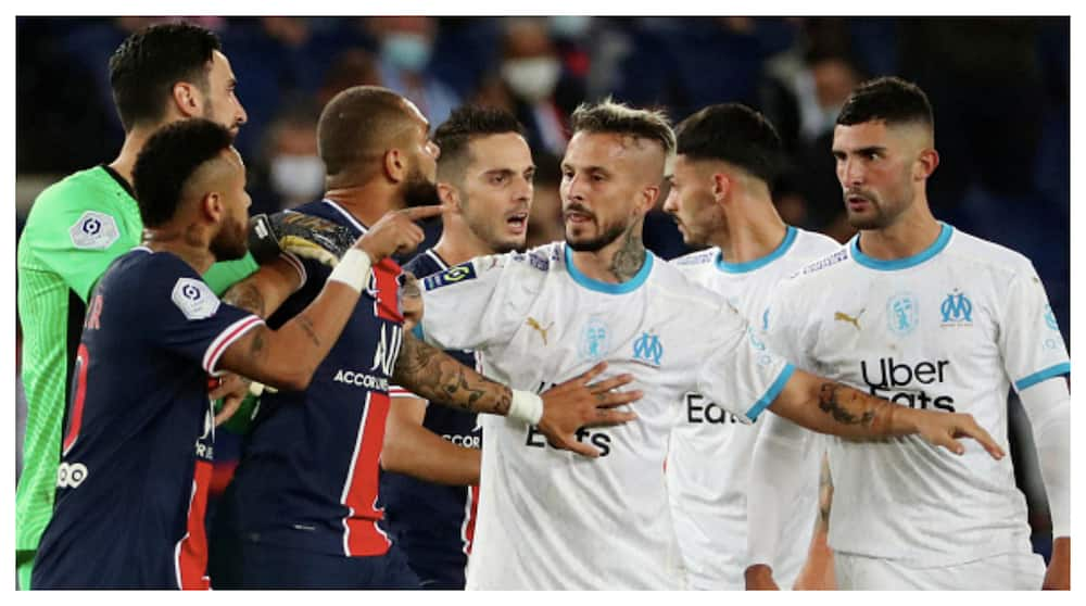 Neymar, 4 others sent off as PSG lose to Marseille by 1-0