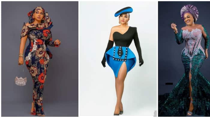 Celebrity favourites: Mercy Aigbe proves Luminee is her favourite designer with 15 photos