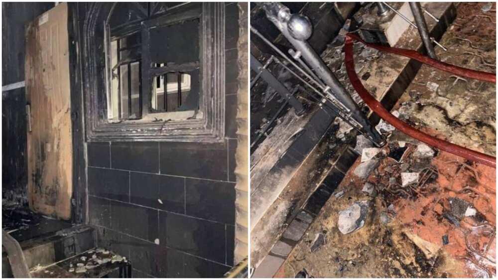 Sunday Igboho's house in Ibadan burnt down