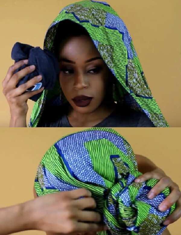 How to tie Ankara turban