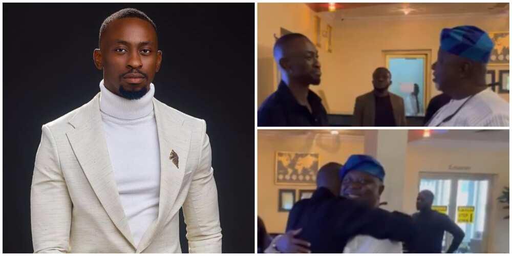 BBNaija's Saga and dad reunite in emotional video