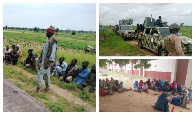 Children and wives of surrendered Boko Haram fighters