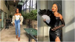 Check out photos of adorable black gown this talented Nigerian tailor made, her accessories are to die for