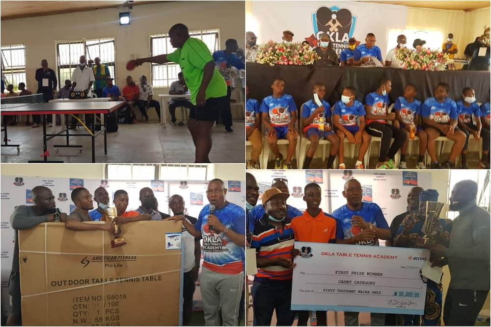 Lagos lawmaker put smiles on constituents, splashes cash, gifts on winners of OKLA tennis competition