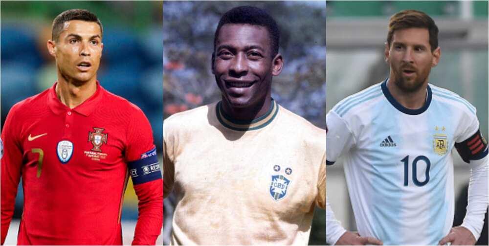 Pele's unnamed 1,279 goals record still beats Ronaldo's 742 and Messi's 707
