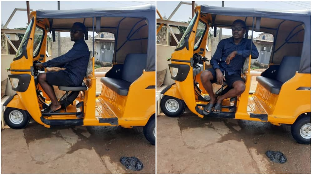 You Can Make more Money than Bank Manager: Reactions as Man Showcases New Keke he Bought for himself