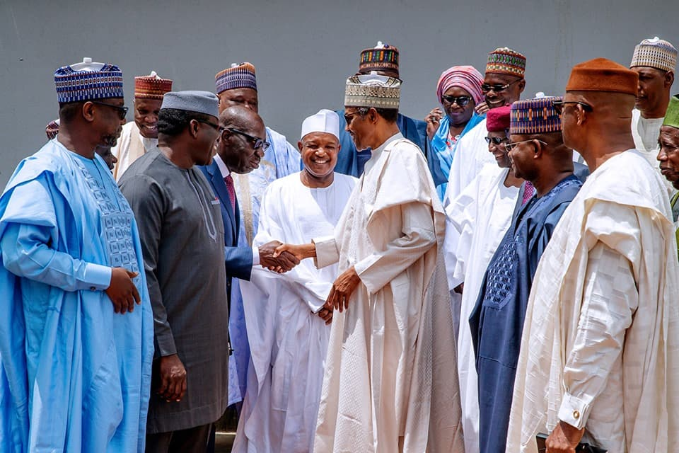 President Buhari meets APC governors behind closed doors in Aso Rock