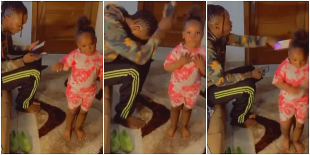 Sweet reactions as Naira Marley finally meets 4-year-old girl in viral video dancing to his song