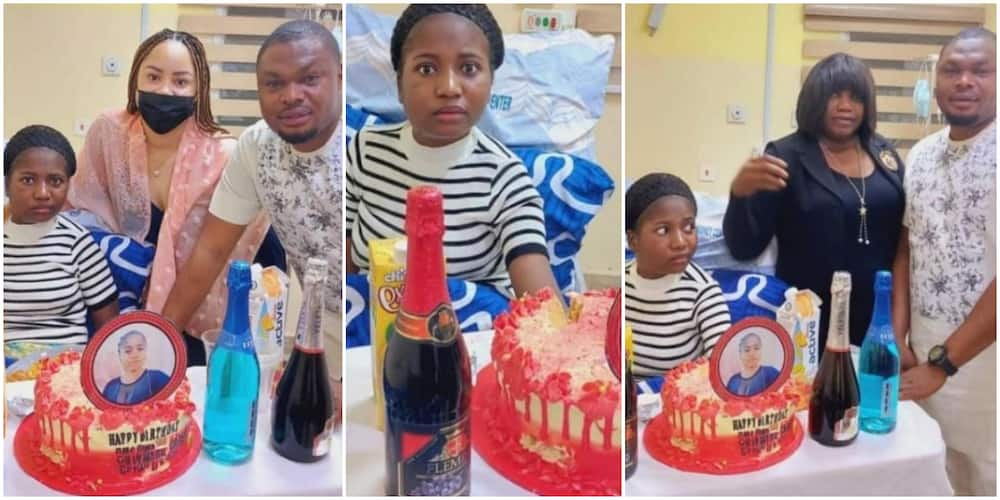 Comedienne Ada Jesus Surrounded by Well wishers as she celebrates birthday in hospital, Nigerians react