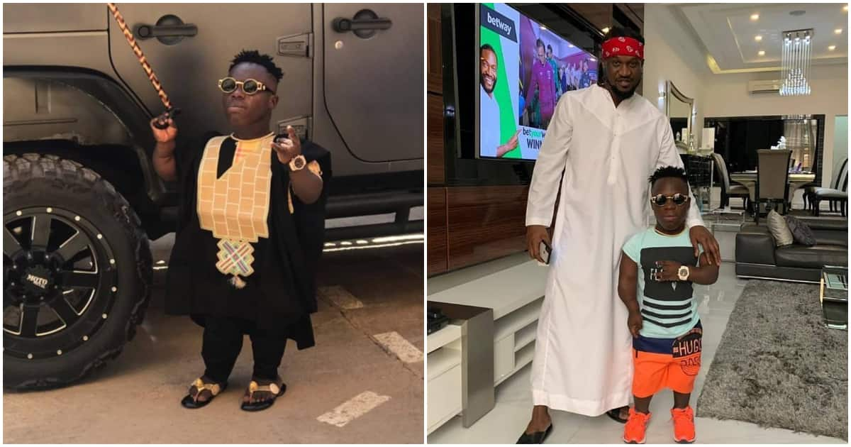 Shatta Bandle pays courtesy visit to Paul Okoye in his Lagos mansion (photo)