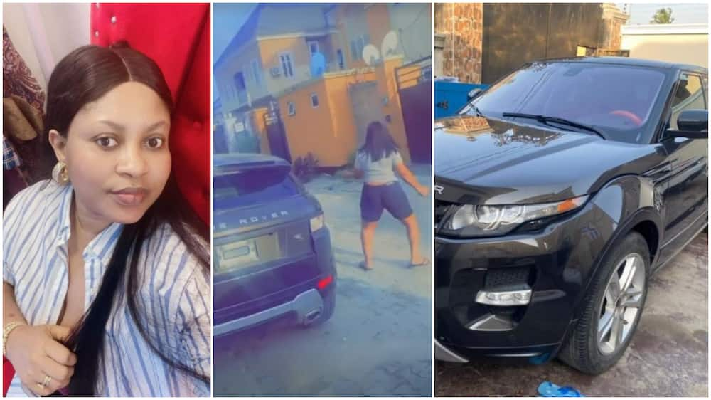 Nollywood actress twerks happily as she gets new Range Rover car, video goes viral
