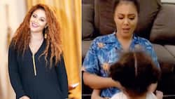 Nadia Buari entertains fourth daughter with M.I's song in new lovely video