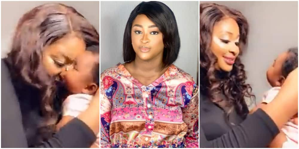 Actress Etinosa discovers extra talent as she sings to her beautiful daughter
