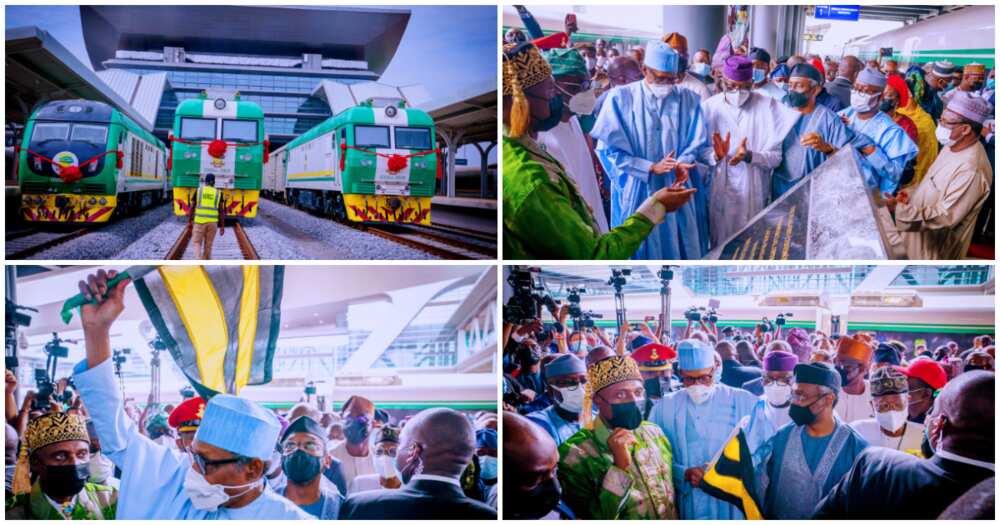 Buhari Flags Off Lagos-Ibadan Rail