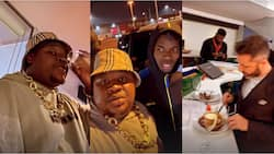 Davido, 30BG gang, Cubana Chiefpriest dine with Man Utd stars Pogba and Bailly at Old Trafford after UCL win