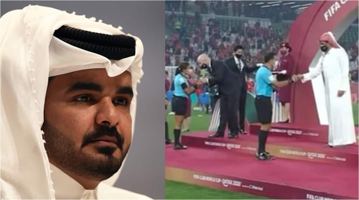Uproar as Qatari Sheikh refuses to shake female referees during FIFA Club World Cup awards ceremony - Legit.ng