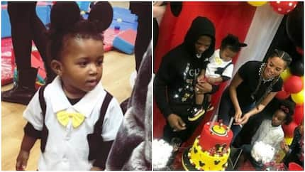Wizkid throws lavish Mickey Mouse-themed birthday party for his son Zion as he clocks 1(photos)