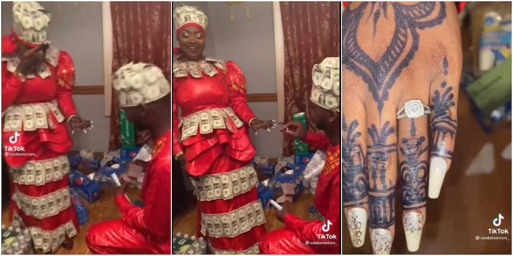 Man proposes to Girlfriend in Grand Style as They are Both Dressed in Dollar Bills Attires, Many React