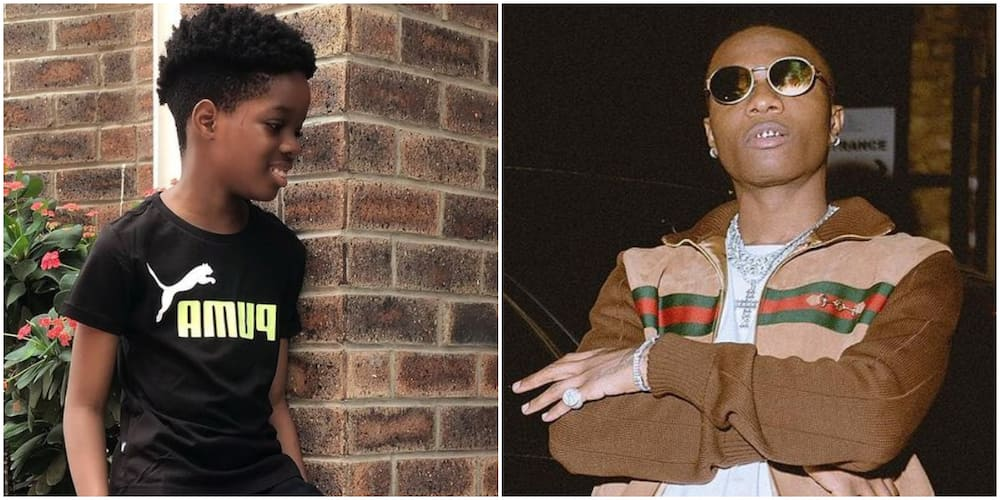 Wizkid and his first son Boluwatife