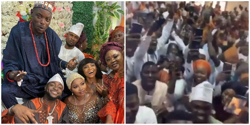 Photos, video from wedding ceremony of Davido's driver where singer served as best man