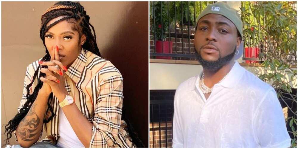 Tiwa Savage and Davido