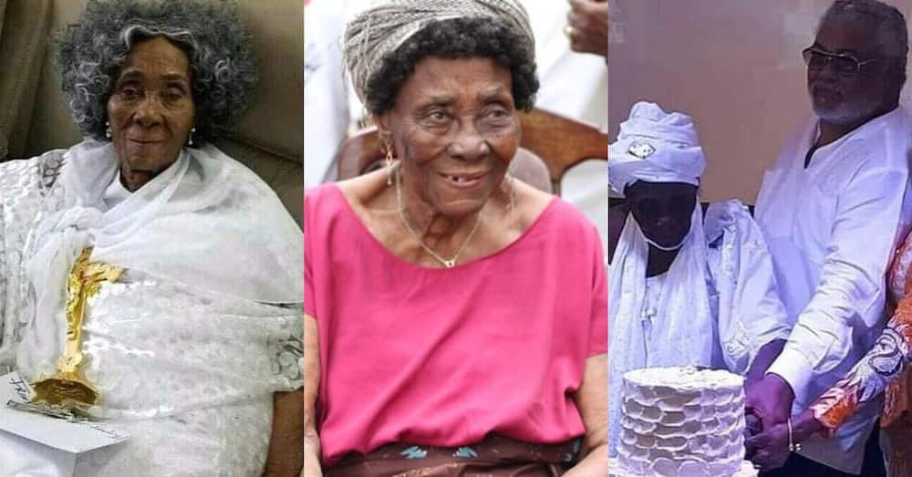 Ghanaians bless 73-year-old JJ Rawlings' mother who has just turned 101