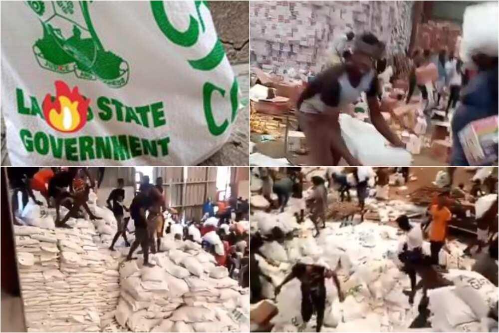 EndSARS: Lagosians breaks into warehouse, loot state's COVID-19 palliatives
