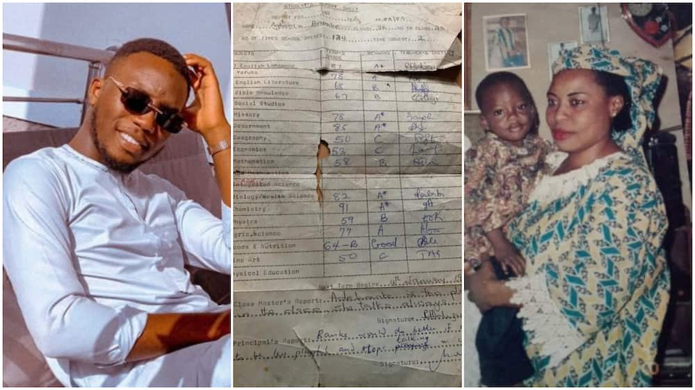 Man finds mum's 1985 brilliant secondary school result, says no wonder she's strict, photo shows A's