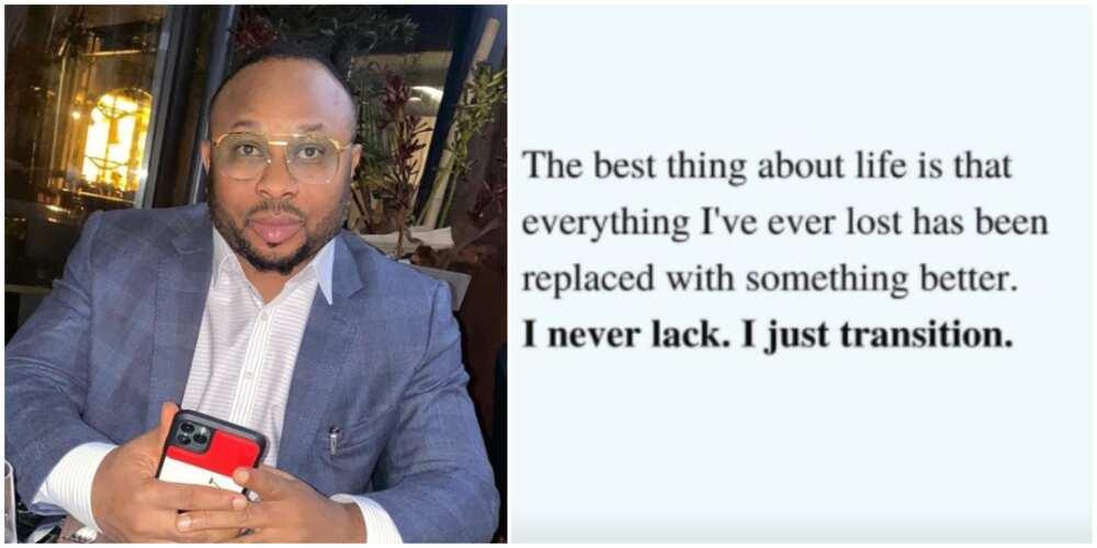 For everything I lost, I got something better - Olakunle Churchill
