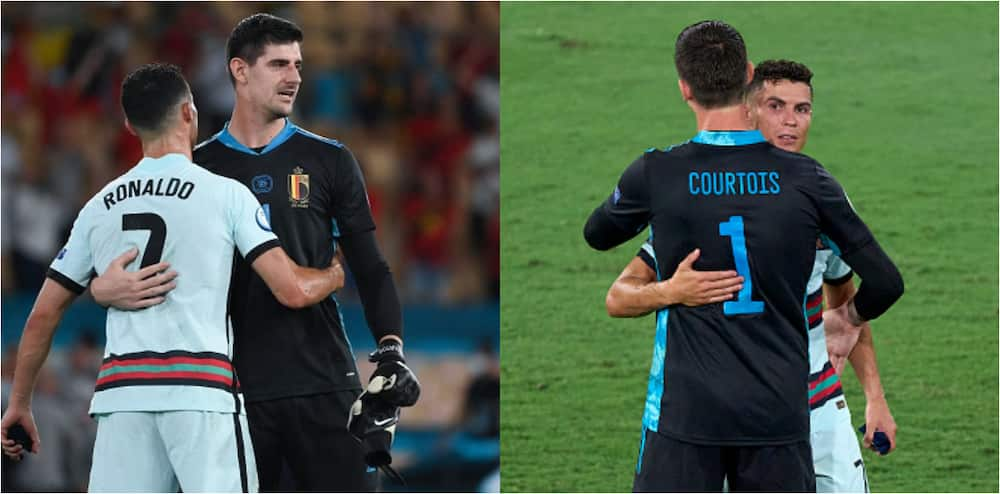 What Ronaldo told Courtois after Portugal's defeat to Belgium at Euro 2020 last 16 revealed