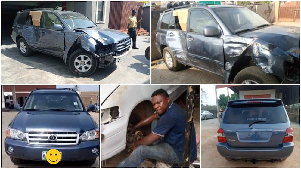 Creative man converts badly damaged vehicle into exotic, beautiful car