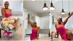 24-year-old Nigerian lady who is a nurse celebrates owning house in the US with sultry photos, causes stir
