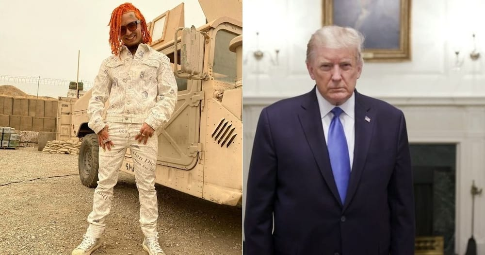 US election: Trump invites Lil Pump to podium at a packed rally