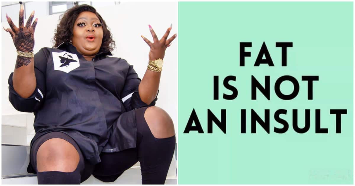 Image result for images of ''Being called fat doesn't bother me because it's a simple fact, I am fat'' Eniola Badmus