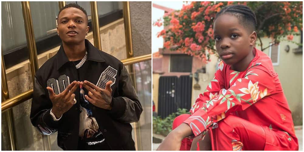 No one is above blocking! Wizkid's 9-year-old son Bolu speaks articulately in video, Nigerians are impressed