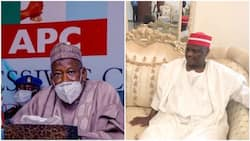 Peace at last? Governor Ganduje pays condolence visit to Kwankwaso's family over father's death, makes important promise