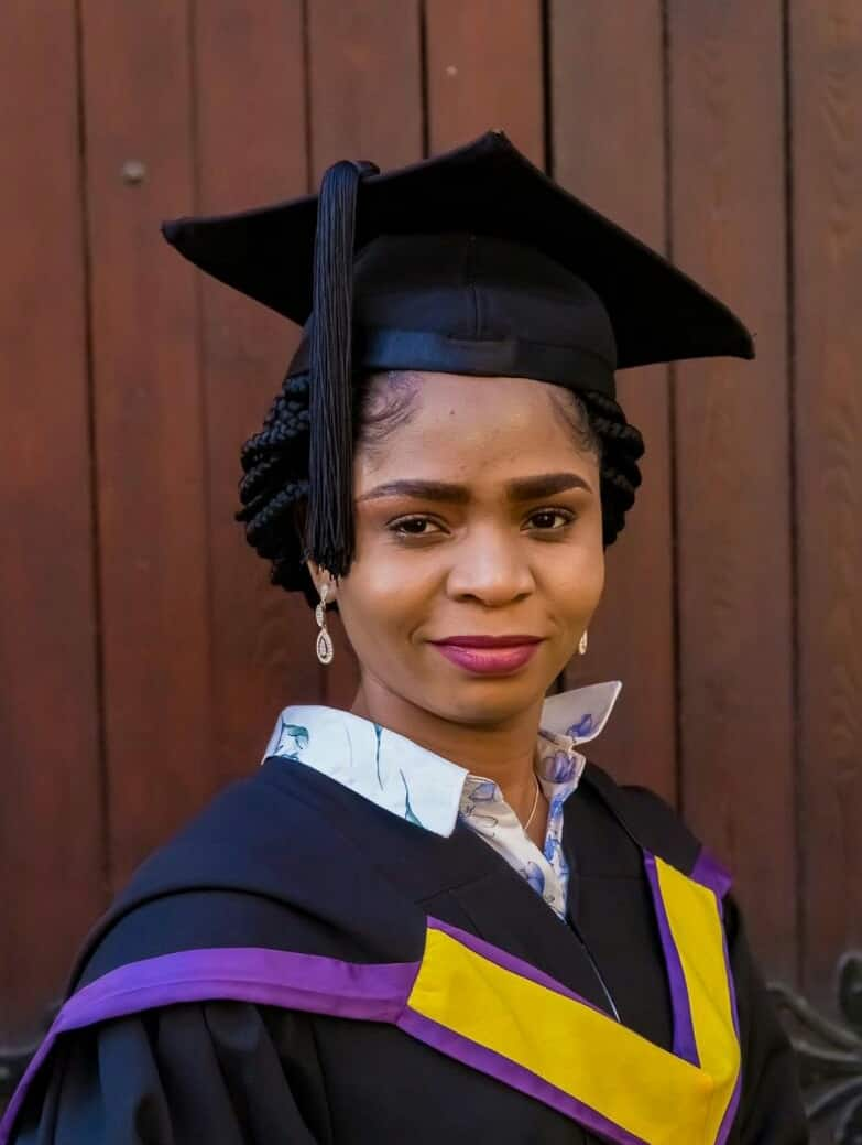 Beautiful young lady shines as she bags Master's degree in Electrical Engineering from top UK varsity