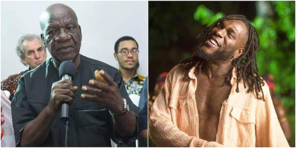 Burna Boy's Grandfather Speaks on Singer Winning the Grammy, Claimed his Prediction came True